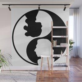 reylo yin yang Wall Mural