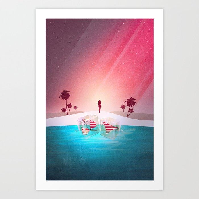 Bikini Beach Art Print