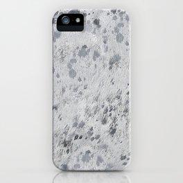 Silver Hide Print Metallic iPhone Case