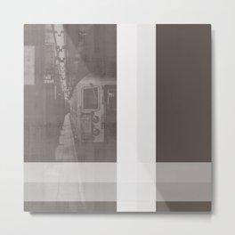 NEW YORK NO. 1   SUBWAY IN BROWN Metal Print