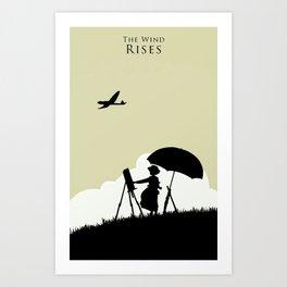 The wind rises Art Print