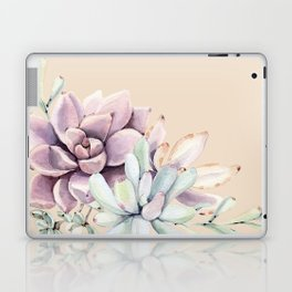 Trendy Apricot + Mint Succulents Laptop & iPad Skin
