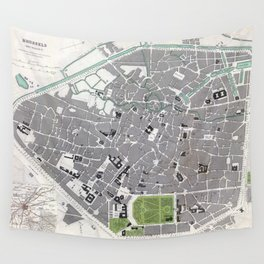 Plan of Brussels - 1837 Wall Tapestry