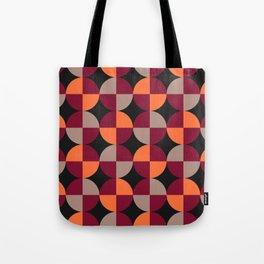 WineRed Squares Tote Bag