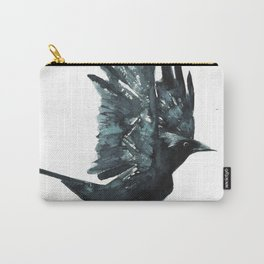 Crow Taking Off Carry-All Pouch