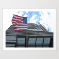 flag Art Prints featuring Flag by Kammy Nature Prints