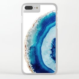 Agate Watercolor 2 Clear iPhone Case