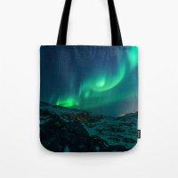 aurora Tote Bags featuring Aurora by StayWild
