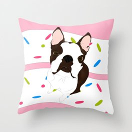 Luna's 3rd Birthday! Throw Pillow