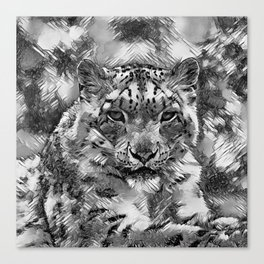 AnimalArtBW_Leopard_20170601_by_JAMColorsSpecial Canvas Print
