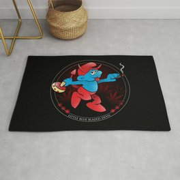 The Little Blue Blazed Devil Rug