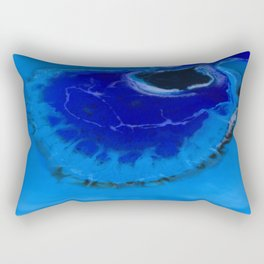 The Infinite Blue Rectangular Pillow