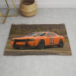 Hugger Orange Challenger RT Dukes of Hazard Rug