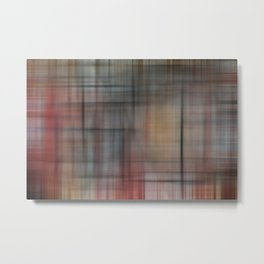 Abstract Multicolored Tartan Metal Print