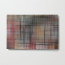 Abstract Multicolored Tartan Metal Print