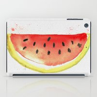 watermelon iPad Cases featuring watermelon  by Soso Creation