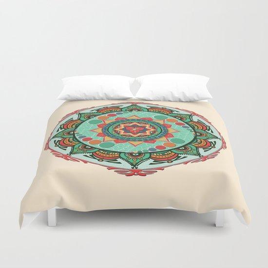 Heart Light Multicolor Mandala Duvet Cover