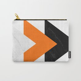 Forward arrows marble orange Carry-All Pouch