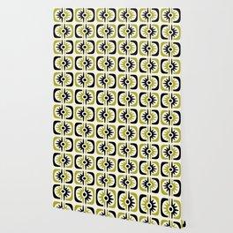 Mid Century Modern Big Bang Pattern Wallpaper