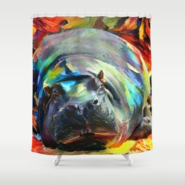 The Last Hippo Shower Curtain