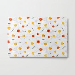 Citrus on Marble Floor Metal Print