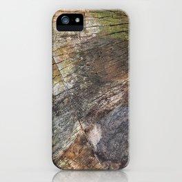 Vibrant Wood Cracks iPhone Case