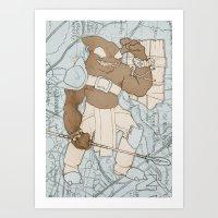 outlander Art Prints featuring The Outlander by Michael J. Cohen