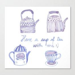 Decorative teapots Canvas Print