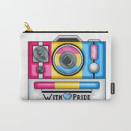 Pan Pride Pixel Camera Carry-All Pouch