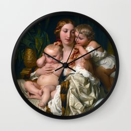 Paul Delaroche - Les joies d'une mre Wall Clock