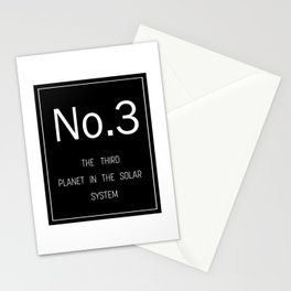 Number 3 Stationery Cards