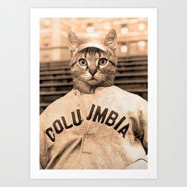 Baseball Cat 1 Art Print