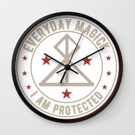 I Am Protected magickal activated sigil tshirt gift Wall Clock