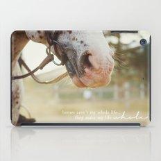 horses make me whole iPad Case
