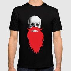 Beard Skull Mens Fitted Tee LARGE Black