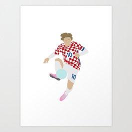 Luka Modric Croatia Print Art Print