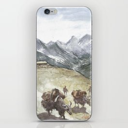 Mountains and wills iPhone Skin
