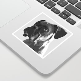 Boxer Graphic Sticker