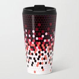 Flat Tech Camouflage Reverse Red Travel Mug