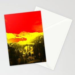 Digitally Altered Photo of Lake Windermere Stationery Cards