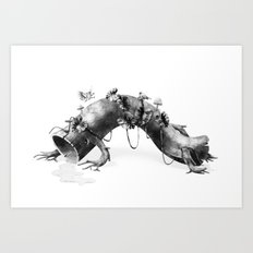 Creature Forest  Art Print