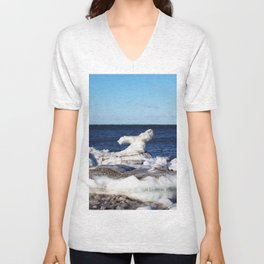 Abstract Ice Sculpture Unisex V-Neck