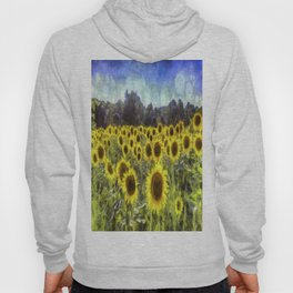 Sunflower Fields Of Dreams Art Hoody