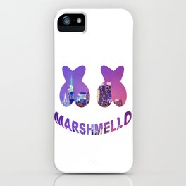 Marshmello in the city iPhone Case