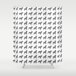 French Bulldog Pattern Shower Curtain