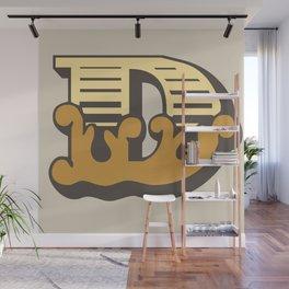 'The letter D' Design Motif Wall Mural