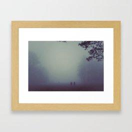 Walk in the Fog Framed Art Print