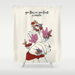 flower and feast Shower Curtain