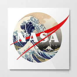 nasa sea storm Metal Print