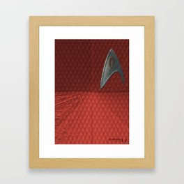 Energize - Red Shirt Framed Art Print